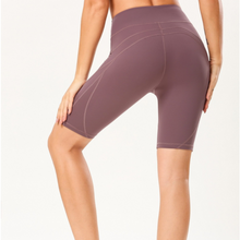 Load image into Gallery viewer, Hummingbird Latitude Bike Shorts Made of peached fabric, which is smooth, breathable and sweat absorbent. Perfect workout / yoga wear in Summer