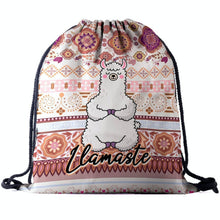 Load image into Gallery viewer, Hummingbird Llama Drawstring Gym Bag - Llamaste