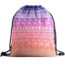 Load image into Gallery viewer, Hummingbird Llama Drawstring Gym Bag - Boho Llama