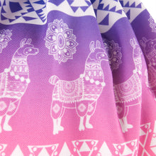 Load image into Gallery viewer, Hummingbird Llama Drawstring Gym Bag - Boho Llama Gym Bag detail 1 - Silky Touch Fabric.