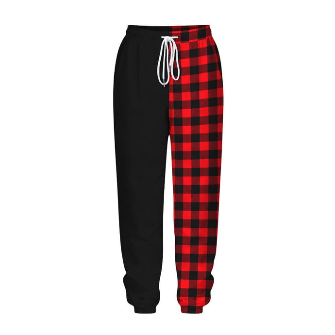 Add a seasonal style to your athletic wear and enjoy a merry Christmas with these Loose Fit Drawstring Christmas Joggers - Red Plaid. Featuring seasonal prints from Santa Claus to snowman, loose fit silhouette, an adjustable drawstring and side pockets, these joggers keep you cozy and warm during cold seasons, and can be worn on occasions from gym to street, from family gatherings to casual lounging. Made of soft, quick dry and wrinkle-resistant fabric.
