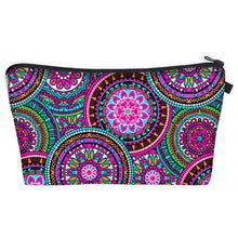 Load image into Gallery viewer, Bohemian Makeup Bag - Cyber Mandala A