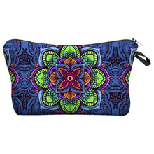 Load image into Gallery viewer, Bohemian Makeup Bag - Cyber Mandala B