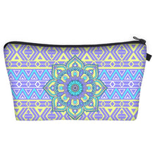 Load image into Gallery viewer, Bohemian Makeup Bag - Cyber Mandala C