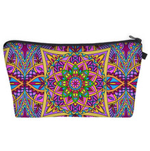 Load image into Gallery viewer, Bohemian Makeup Bag - Cyber Mandala D