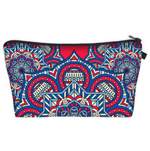 Load image into Gallery viewer, Bohemian Makeup Bag - Cyber Mandala E