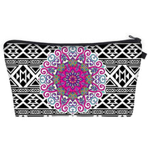 Load image into Gallery viewer, Bohemian Makeup Bag - Cyber Mandala F