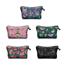 Load image into Gallery viewer, Hummingbird Sloth Makeup Bag (5 Patterns)