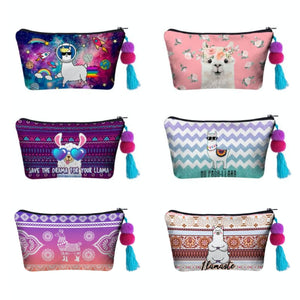 Hummingbird Llama Makeup Bag 6 Patterns