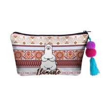 Load image into Gallery viewer, Hummingbird Llama Makeup Bag - Llamaste