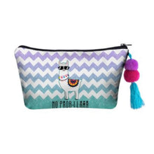 Load image into Gallery viewer, Hummingbird Llama Makeup Bag - NO PROB-LLAMA