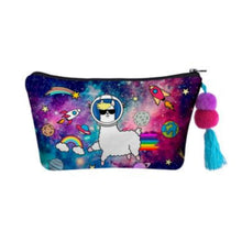 Load image into Gallery viewer, Hummingbird Llama Makeup Bag - Space Llama