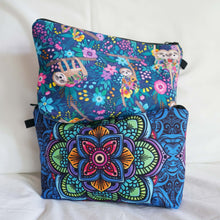 Load image into Gallery viewer, Bohemian Makeup Bag - Cyber Mandala (6 Patterns)
