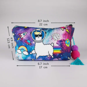 Hummingbird Llama Makeup Bag