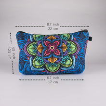 Load image into Gallery viewer, Bohemian Makeup Bag - Cyber Mandala (6 Patterns) - Dimension