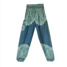 Load image into Gallery viewer, Hummingbird Mandala Print Loose Yoga Pants (Handmade)