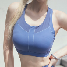 Load image into Gallery viewer, Hummingbird High-neck Mesh Cutout Racerback Anti-sagging Adjustable Sports Bra made of soft and moisture wicking fabric