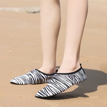 Load image into Gallery viewer, Hummingbird Zebra Print Minimalist Water Shoes