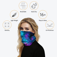 Load image into Gallery viewer, This Bohemian Printed Multifunctional Neck Gaiter is so versatile that there are 16+ ways to wear it - neckerchief, headband, wristband, mask, hair-band, balaclava, face mask, face scarf, seamless mask, beanie, bandana, mouth mask, neck gaiter and more. Perfect for all sorts of indoor and outdoor activities including cardio, weightlifting, hiking, fishing, skiing, cycling, skating etc with UV protection and odor control.