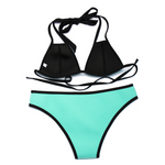 Neoprene Triangle Bikini Set