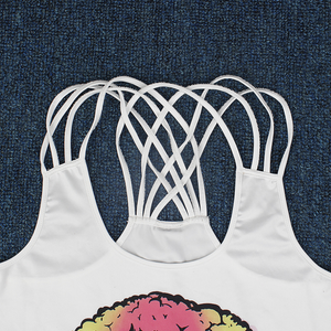 "Hummingbird ""Oh Well"" Strappy Crisscross Tank Top - Details"