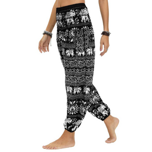 Hummingbird Paisley Elephant Loose Yoga Pants