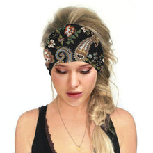 Load image into Gallery viewer, Hummingbird Bohemian Paisley Print - Paisley B Multifunctional Headband (7 Patterns) offers a secure fit to hold your hair back, and along with moisture-wicking fabric, allows you to stay fresh and focused on your workout. Perfect for all sorts of workout activities. Also suitable for daily wear as a hair band, head wrap, bandana, face cover, morning makeup and nighttime moisturizing.