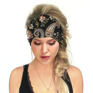 Hummingbird Bohemian Paisley Print - Paisley B Multifunctional Headband (7 Patterns) offers a secure fit to hold your hair back, and along with moisture-wicking fabric, allows you to stay fresh and focused on your workout. Perfect for all sorts of workout activities. Also suitable for daily wear as a hair band, head wrap, bandana, face cover, morning makeup and nighttime moisturizing.