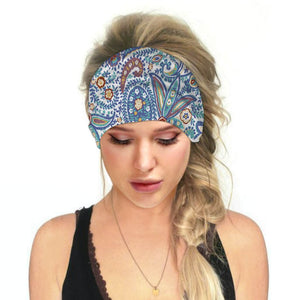 Hummingbird Bohemian Paisley Print - Paisley C Multifunctional Headband (7 Patterns) offers a secure fit to hold your hair back, and along with moisture-wicking fabric, allows you to stay fresh and focused on your workout. Perfect for all sorts of workout activities. Also suitable for daily wear as a hair band, head wrap, bandana, face cover, morning makeup and nighttime moisturizing.