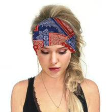 Load image into Gallery viewer, Hummingbird Bohemian Paisley Print - Paisley F Multifunctional Headband (7 Patterns) offers a secure fit to hold your hair back, and along with moisture-wicking fabric, allows you to stay fresh and focused on your workout. Perfect for all sorts of workout activities. Also suitable for daily wear as a hair band, head wrap, bandana, face cover, morning makeup and nighttime moisturizing.
