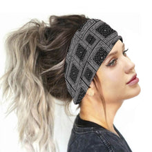 Load image into Gallery viewer, Hummingbird Bohemian Paisley Print - Paisley G Multifunctional Headband (7 Patterns) offers a secure fit to hold your hair back, and along with moisture-wicking fabric, allows you to stay fresh and focused on your workout. Perfect for all sorts of workout activities. Also suitable for daily wear as a hair band, head wrap, bandana, face cover, morning makeup and nighttime moisturizing.