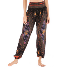 Load image into Gallery viewer, Handmade Peacock Eye Print Loose Yoga Pants (3 Colors)