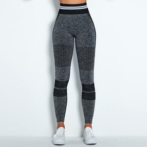 Reach your full potential this fall/winter with Hummingbird Performance Seamless Gym Yoga Leggings - Black. Featuring geometric and across the board stripe detailing, these leggings demonstrate feminine strength and energy. High-rise fitted with widened waistband. Seamless knitted fabrication reduces chafing and is camel toe free. Perfect for all sorts of indoor and outdoor activities, as well as an athleisure feel. Complete the look with our Performance Seamless Biker Shorts Set.