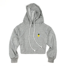 Load image into Gallery viewer, Pineapple Crop Hoodie With Drawstring (4 Colors)