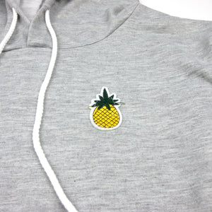 Pineapple Crop Hoodie With Drawstring (4 Colors)