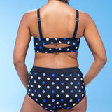 Polka Dot Double Buckled Bikini Set