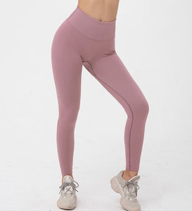 Hummingbird Ribbed Seamless High Waisted Leggings - Playful Plum are available as individual items.