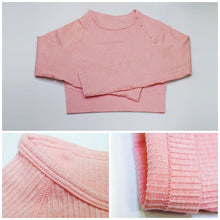 Load image into Gallery viewer, Hummingbird Ribbed Seamless Raglan Sleeve Crop Top is available as an individual item.