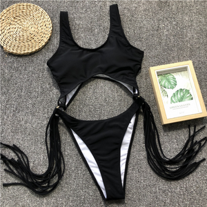 Ring Tassel Cutout One Piece
