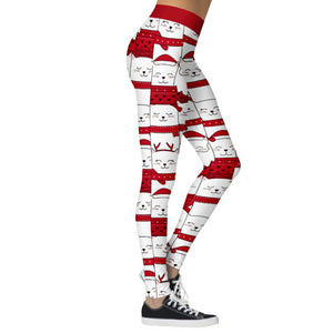 Add a seasonal style to your workout wear and enjoy a merry Christmas with these Hummingbird Santa Claus Print Christmas Leggings - Christmas Cat. Featuring seasonal prints from Santa Claus to camouflage, mid-rise fit and elastic waistband, these Santa Claus Print Christmas Leggings can be worn on occasions from family gathering to workouts. Digital printing technology keeps the patterns intact after wear and tear. Made of moisture-wicking, quick drying and stretchy fabric.