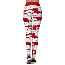 Load image into Gallery viewer, Add a seasonal style to your workout wear and enjoy a merry Christmas with these Hummingbird Santa Claus Print Christmas Leggings - Christmas Cat. Featuring seasonal prints from Santa Claus to camouflage, mid-rise fit and elastic waistband, these Santa Claus Print Christmas Leggings can be worn on occasions from family gathering to workouts. Digital printing technology keeps the patterns intact after wear and tear. Made of moisture-wicking, quick drying and stretchy fabric.