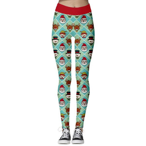 Add a seasonal style to your workout wear and enjoy a merry Christmas with these Hummingbird Santa Claus Print Christmas Leggings - Santa+Snowman+Reindeer. Featuring seasonal prints from Santa Claus to camouflage, mid-rise fit and elastic waistband, these Santa Claus Print Christmas Leggings can be worn on occasions from family gathering to workouts. Digital printing technology keeps the patterns intact after wear and tear. Made of moisture-wicking, quick drying and stretchy fabric.