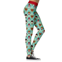 Load image into Gallery viewer, Add a seasonal style to your workout wear and enjoy a merry Christmas with these Hummingbird Santa Claus Print Christmas Leggings - Santa+Snowman+Reindeer. Featuring seasonal prints from Santa Claus to camouflage, mid-rise fit and elastic waistband, these Santa Claus Print Christmas Leggings can be worn on occasions from family gathering to workouts. Digital printing technology keeps the patterns intact after wear and tear. Made of moisture-wicking, quick drying and stretchy fabric.
