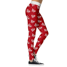 Load image into Gallery viewer, Add a seasonal style to your workout wear and enjoy a merry Christmas with these Hummingbird Santa Claus Print Christmas Leggings - Hohoho Santa. Featuring seasonal prints from Santa Claus to camouflage, mid-rise fit and elastic waistband, these Santa Claus Print Christmas Leggings can be worn on occasions from family gathering to workouts. Digital printing technology keeps the patterns intact after wear and tear. Made of moisture-wicking, quick drying and stretchy fabric.