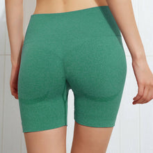 Load image into Gallery viewer, Hummingbird Seamless High Waisted Biker Shorts with underbutt panels - Green