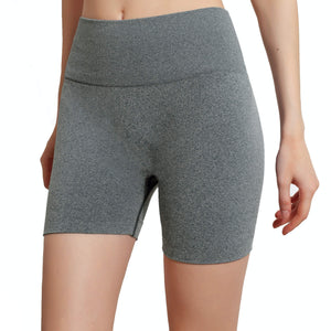 Hummingbird Seamless High Waisted Biker Shorts with underbutt panels - Grey