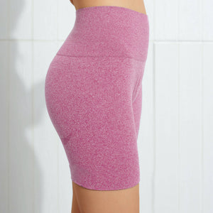 Hummingbird Seamless High Waisted Biker Shorts with underbutt panels - Pink