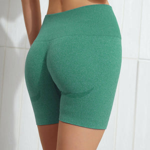 Hummingbird Seamless High Waisted Biker Shorts with underbutt panels - Green