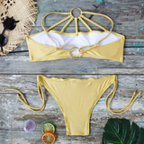 Shiny Ring & Strap Bikini Set