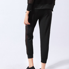 Load image into Gallery viewer, Side Mesh Drawstring Skinny Cropped Joggers